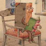 Three Books Art Print