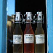 Three Bottles Of Liqueur Art Print