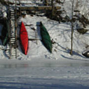 Three Canoes Art Print