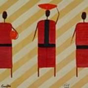 Three Carrier Ladies Art Print