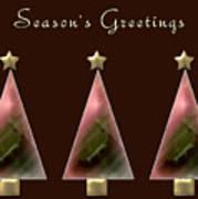 Three Christmas Trees Art Print