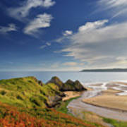 Three Cliffs Bay 4 Art Print