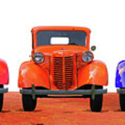 Three Colored Cars Art Print