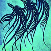 Three Crows Contemporary Minmalism Art Print