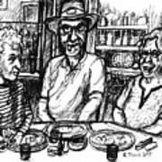 Three Diners Art Print