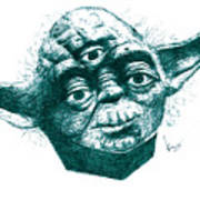 Three Eyed Yoda Art Print