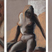 Three Figures - Triptych Art Print
