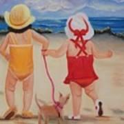 Three For The Beach Art Print by Joni McPherson