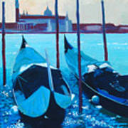 Three Gondolas Art Print