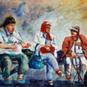 Three In San Diego Art Print