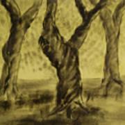 Three Is As Tree Gets Art Print