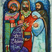 Three Kings O Come Let Us Adore Him Art Print