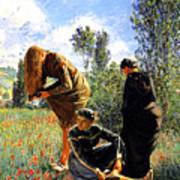 Three Ladies In A Field Art Print