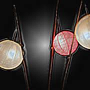 Three Lanterns Art Print