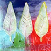 Three Leaves Of Good Art Print by Linda Woods