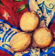 Three Lemons Art Print