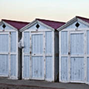 Three Modello Beach Cabanas Art Print