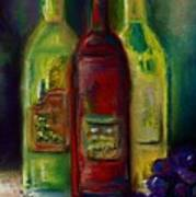 Three More Bottles Of Wine Art Print