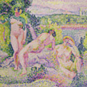 Three Nudes Art Print by Henri Edmond Cross