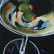 Three Olive Martini V  Art Print