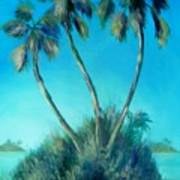 Three Palm Island Art Print