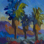 Three Palms At Palm Desert Art Print