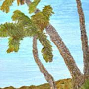 Three Palms At The Beach Art Print