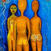 Three People Art Print by Pilar  Martinez-Byrne