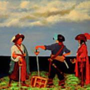 Three Pirates Art Print