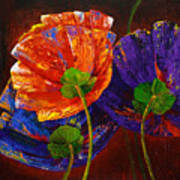 Three Poppies Art Print