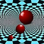 Three Red Balls Art Print