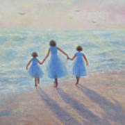 Three Sisters Beach Art Print