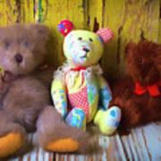 Three Special Bears Art Print