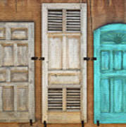 Three Taos Doors Art Print