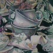 Three Tea Cups Art Print