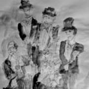Three Tenors And A Pianist Art Print