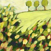 Three Trees On A Hill Art Print
