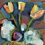 Three Tulips Art Print