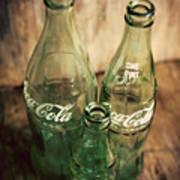 Three Vintage Coca Cola Bottles  Art Print