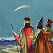 Three Wise Men Art Print by English School
