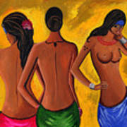 Three Women - 2 Art Print