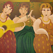 Three Women 2005 Art Print
