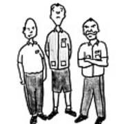 Three Workers Art Print