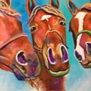 Threes Company Art Print