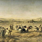 Threshing Wheat In Algeria Art Print