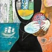 Through The Niqab Art Print