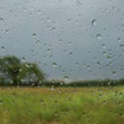 Through The Raindrops Art Print