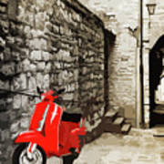 Through The Streets Of Italy - 01 Art Print