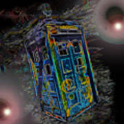 Tardis - Through Time And Space Art Print