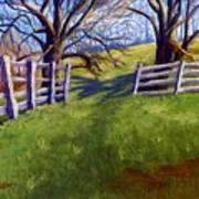 Throught The Pasture Gate Art Print